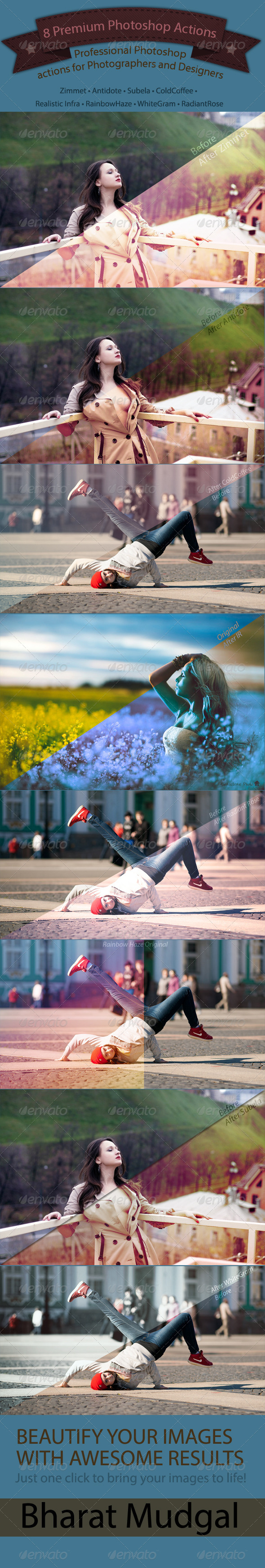 GraphicRiver 8 Professional Photoshop Actions 4701786