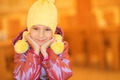 little girl smiling in yellow hat - PhotoDune Item for Sale