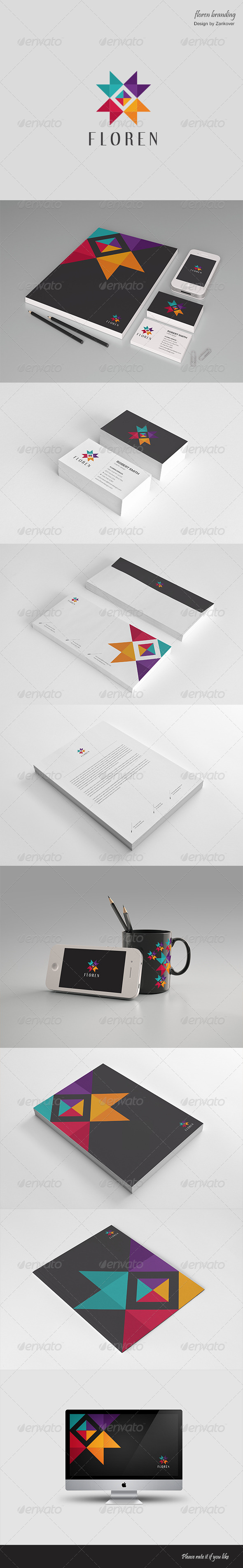 GraphicRiver Stationary & Brand Identity Floren 4702021