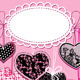Holiday Background with Black and Pink Hearts - GraphicRiver Item for Sale