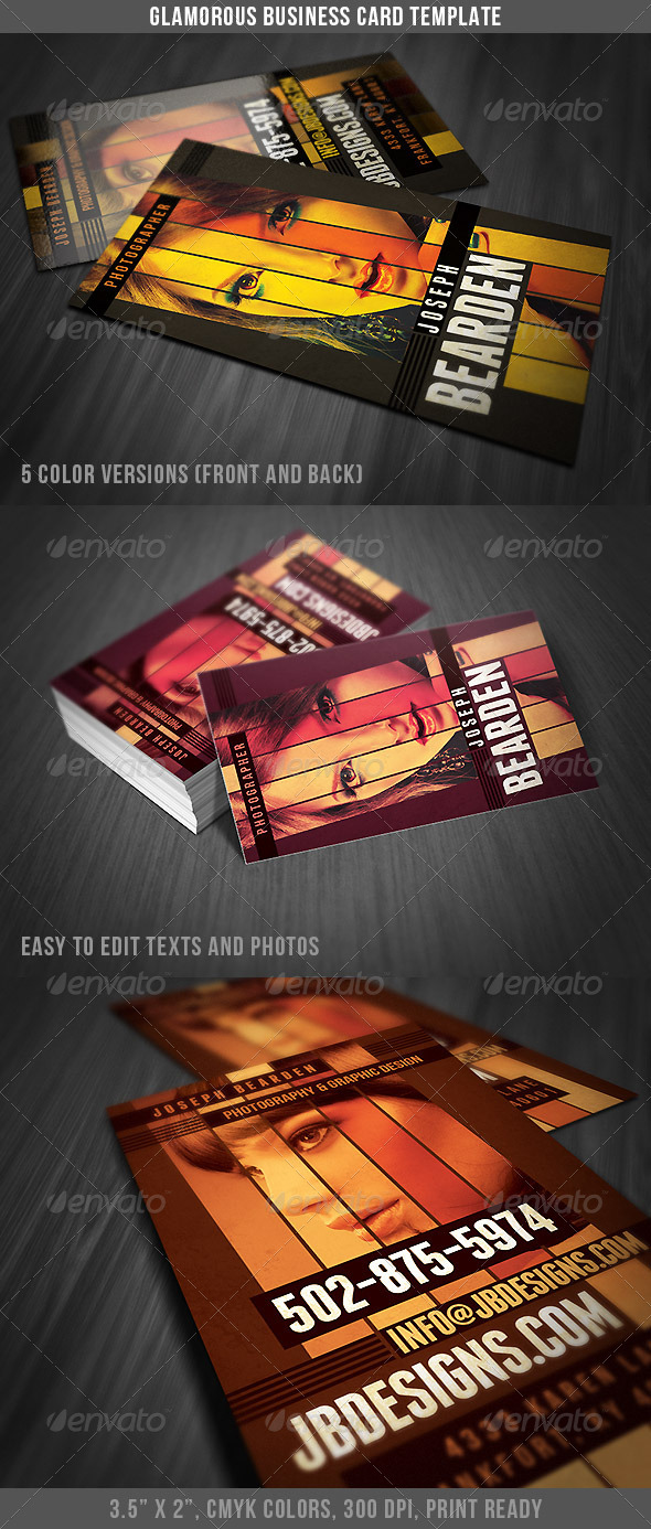 GraphicRiver Glamorous Business Card 4702201