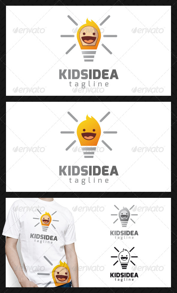 GraphicRiver Kid Idea Logo Template 4702203