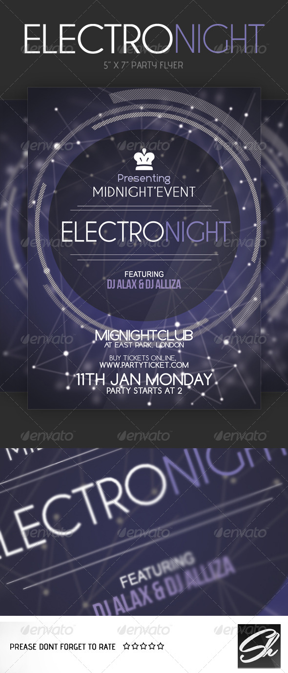 GraphicRiver Electro Night Flyer 4702252