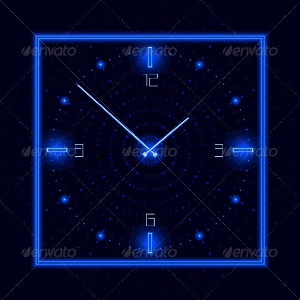 GraphicRiver Neon Cosmic Clock 4702348