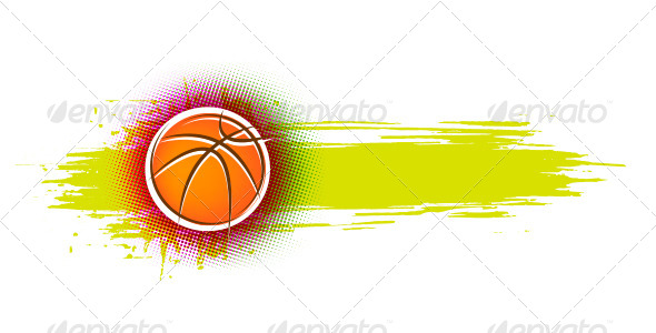 GraphicRiver Grunge Basketball Banner Illustration 4702581