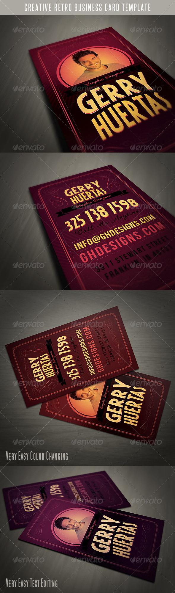 GraphicRiver Creative Retro Business Card 4702585