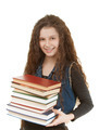smiling schoolgirl with textbooks - PhotoDune Item for Sale