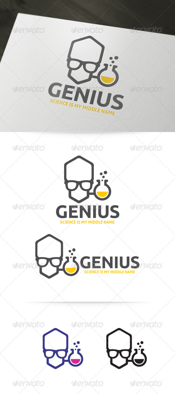 GraphicRiver Genius Lab Geek Logo Template 4702981