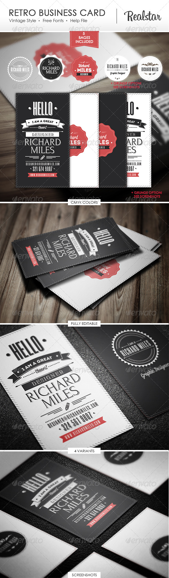 GraphicRiver Retro Business Card 4703221