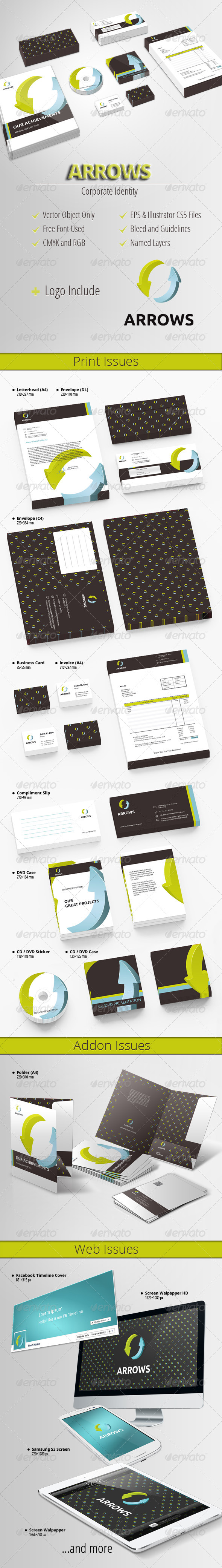 GraphicRiver Arrows Modern Corporate Identity 4573982