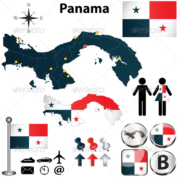 GraphicRiver Map of Panama 4703691