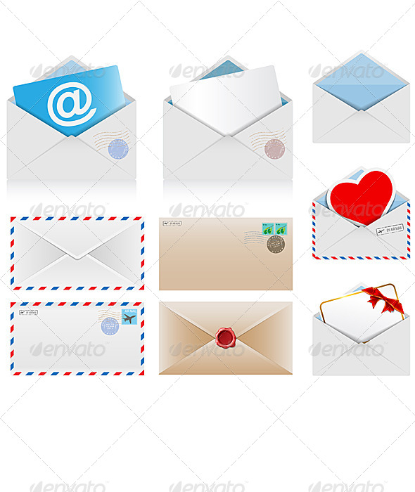 Set of Postal Envelopes