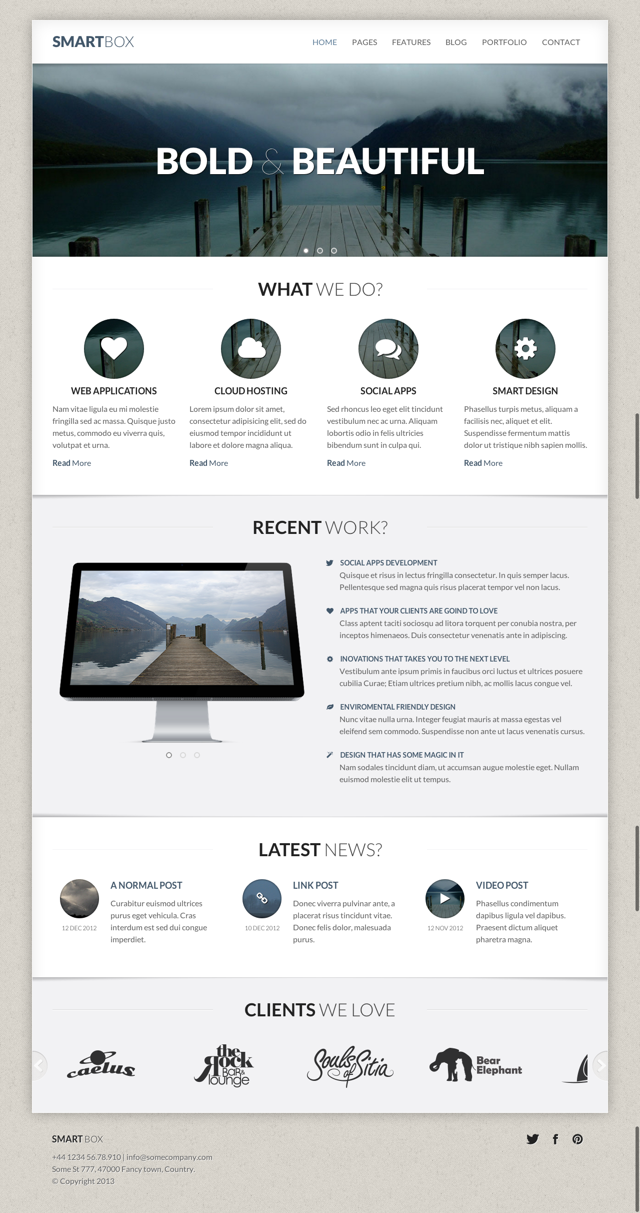 SmartBox - Responsive Bootstrap Business Theme