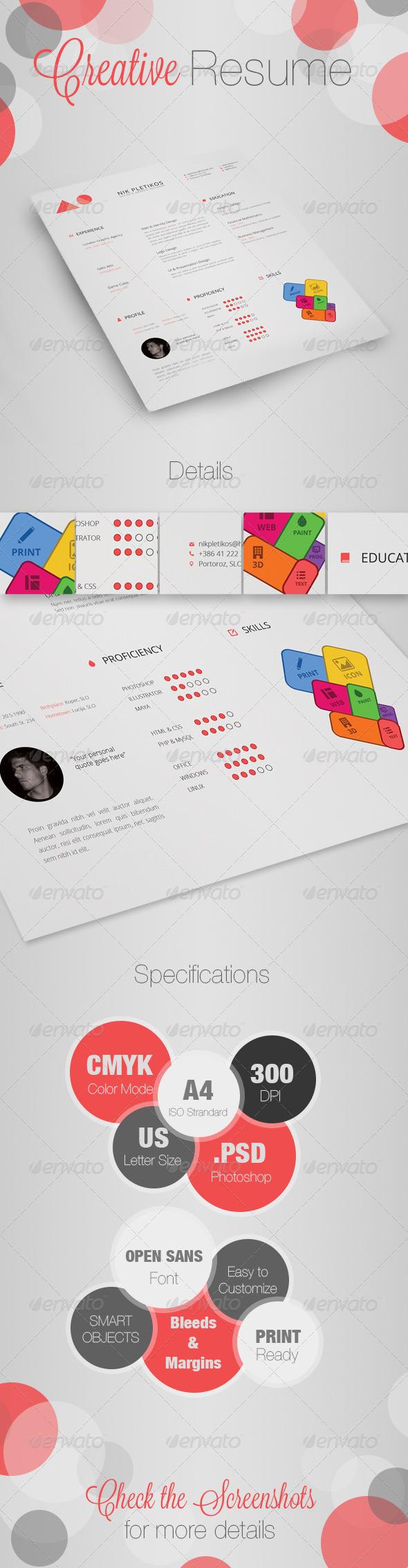 GraphicRiver Creative Resume CV 4704025