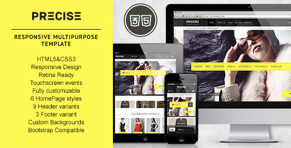 ThemeForest Precise Multipurpose Responsive Template 4704032