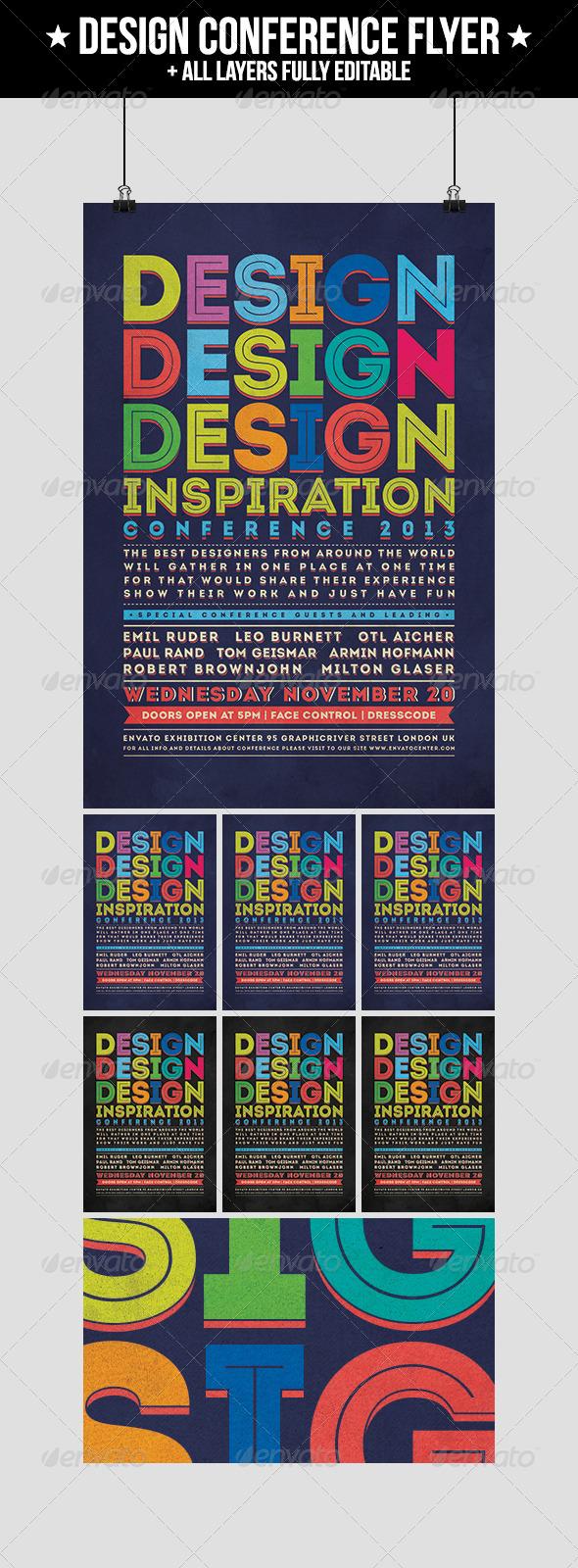 GraphicRiver Design Conference Flyer 4704527