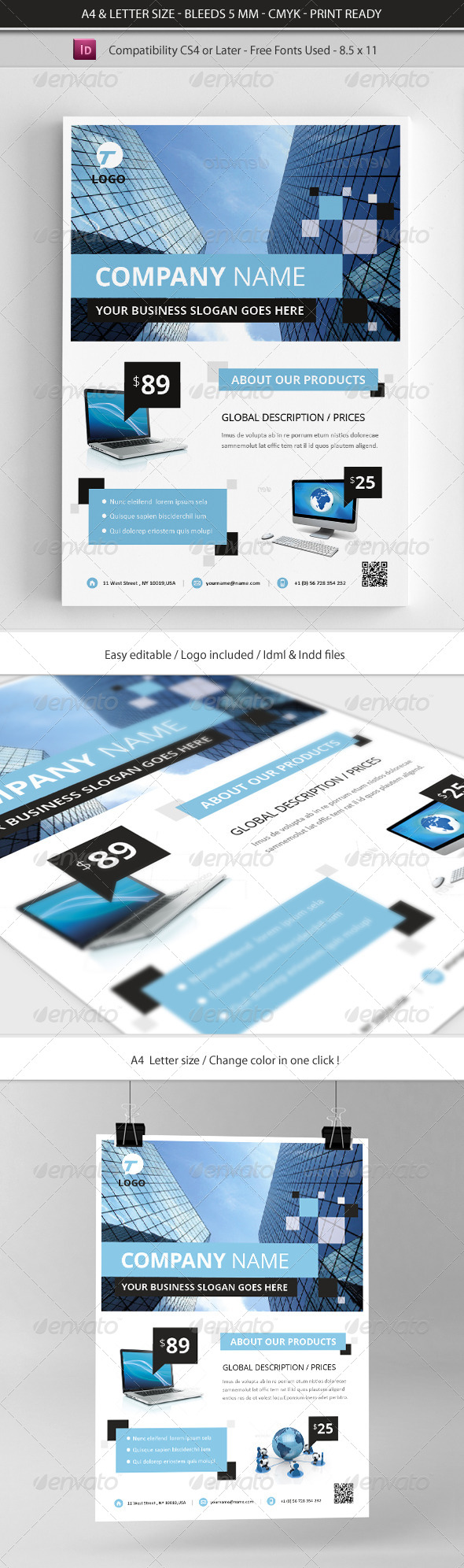 GraphicRiver Corporate & Business Commerce Flyer Template 4704546