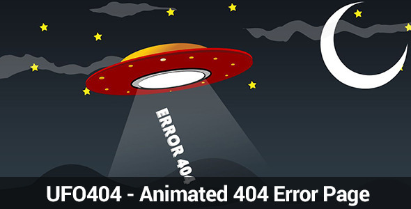 ThemeForest UFO 404 Animated 404 Page 4705061