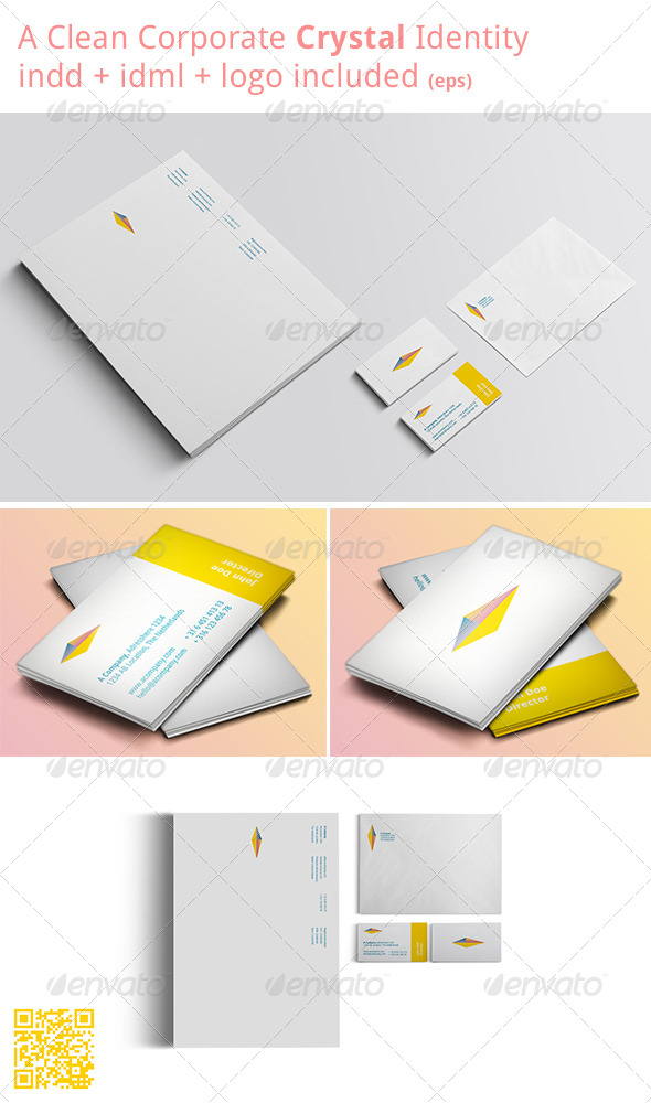 GraphicRiver Crystal Stationary 4629999