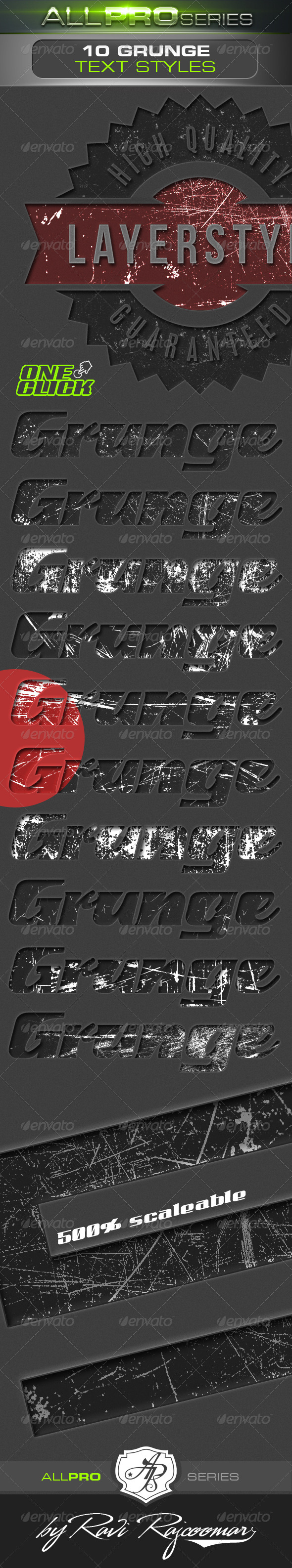 GraphicRiver Grunge Photoshop Text Styles 4705758