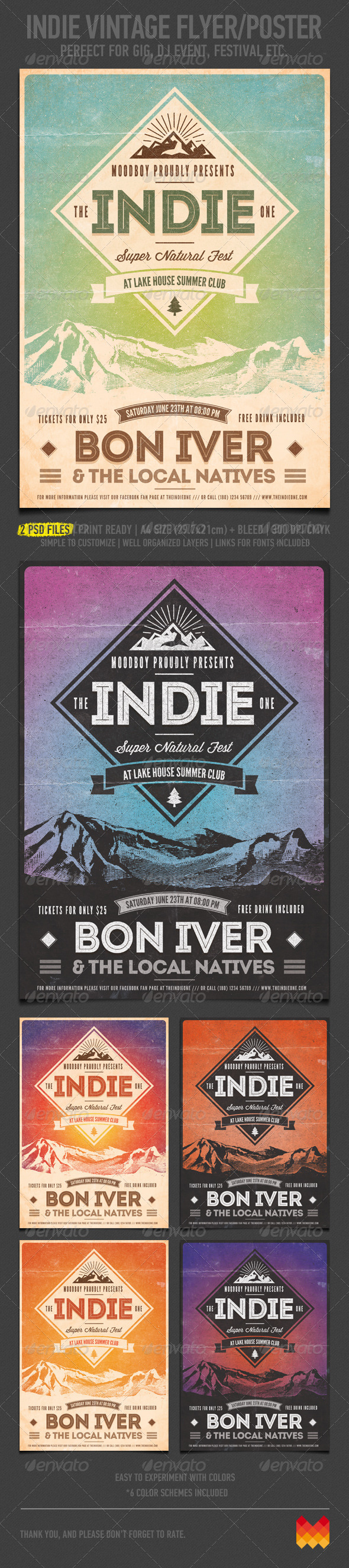 GraphicRiver Indie Vintage Flyer Poster 4705761