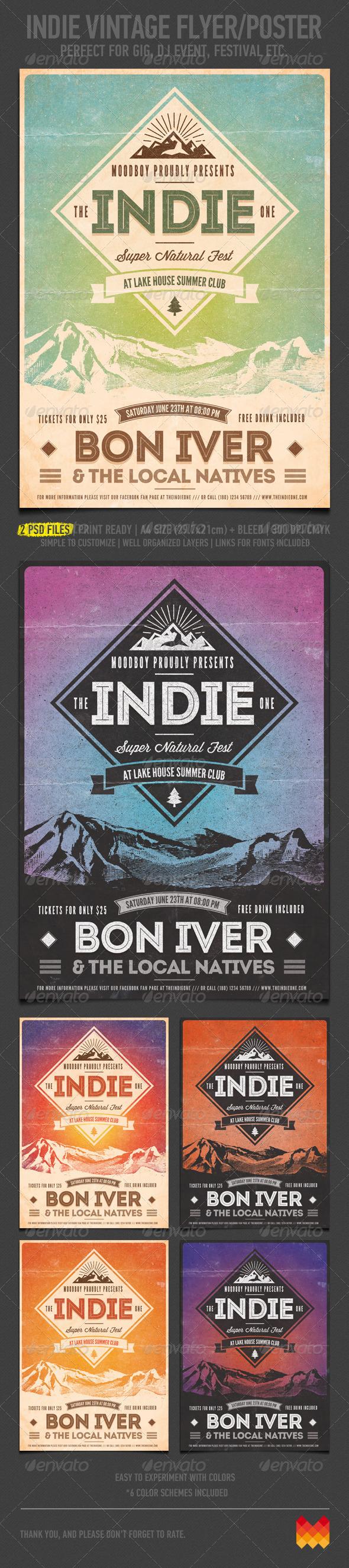 GraphicRiver Indie Vintage Flyer Poster 4705761