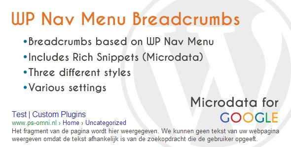CodeCanyon WP Nav Menu Breadcrumbs 4706192