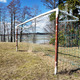 old soccer goal on the village sports field - PhotoDune Item for Sale