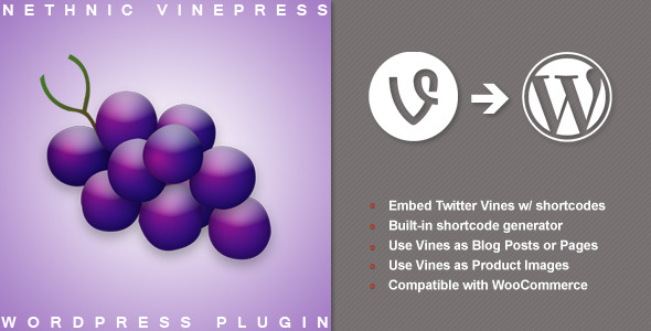 Embed Vines (WP and WooCommerce) w/shortcode (WordPress) images