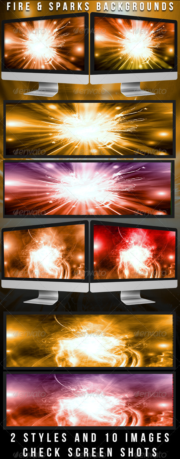 GraphicRiver Fire & Spark Backgrounds 4706515