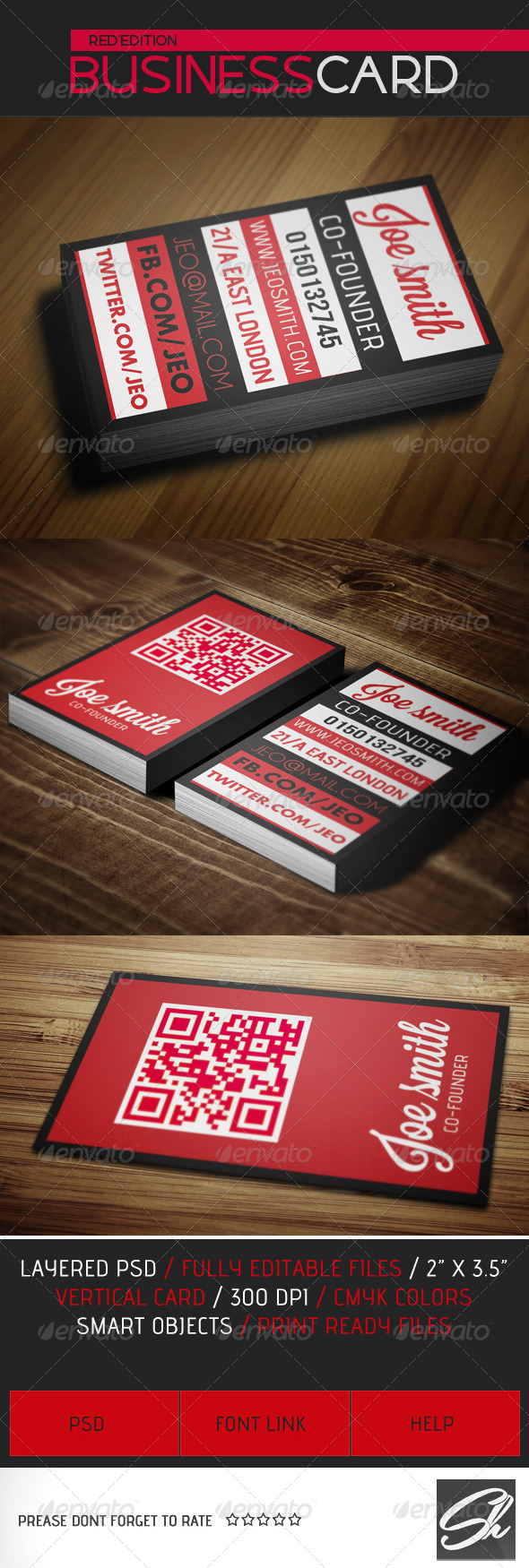 GraphicRiver Premium Business Card Red Edition 4520811