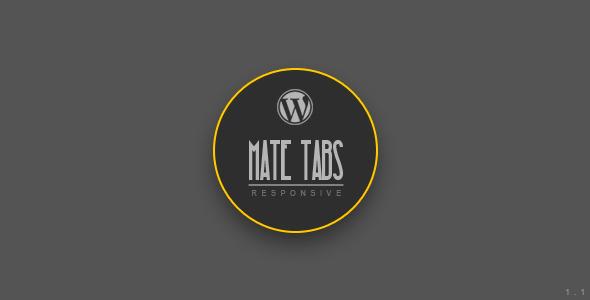 Mate Tabs | WordPress Plugin (Accordions) images