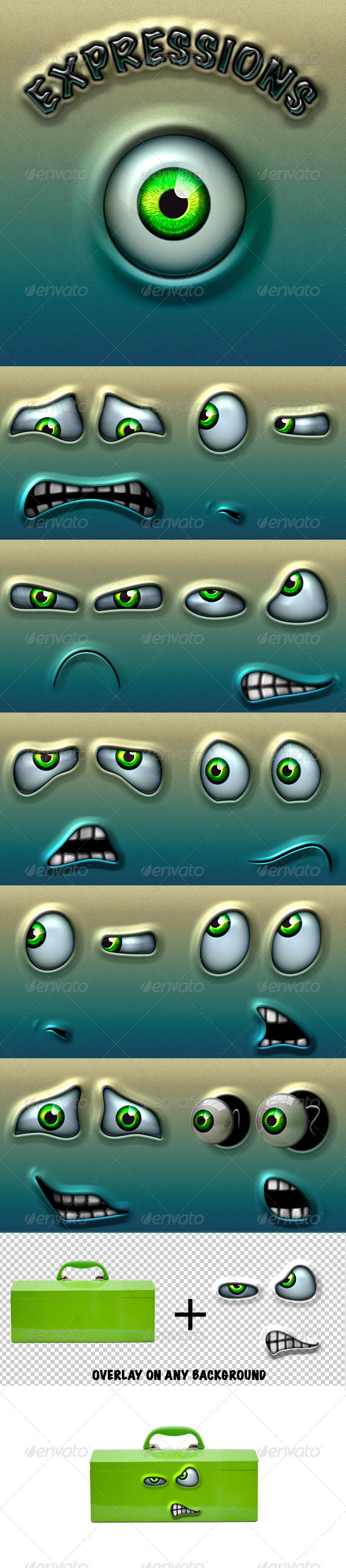GraphicRiver Character Expressions Pack 3 4706752