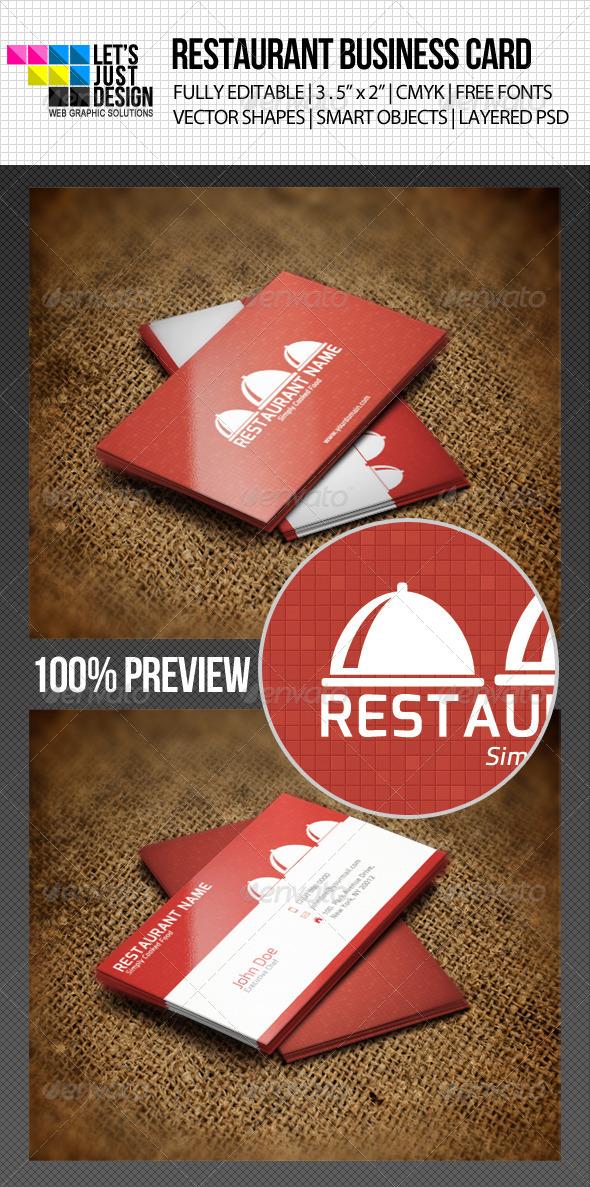 GraphicRiver Restaurant Business Card 4706920