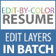Edit-By-Color Resume - GraphicRiver Item for Sale