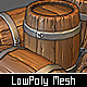 Low Poly Wooden Barrel - 3DOcean Item for Sale