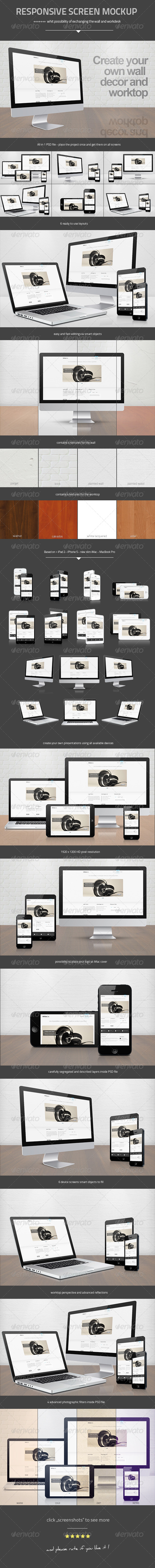 GraphicRiver Responsive Screen Mock-up 4529764