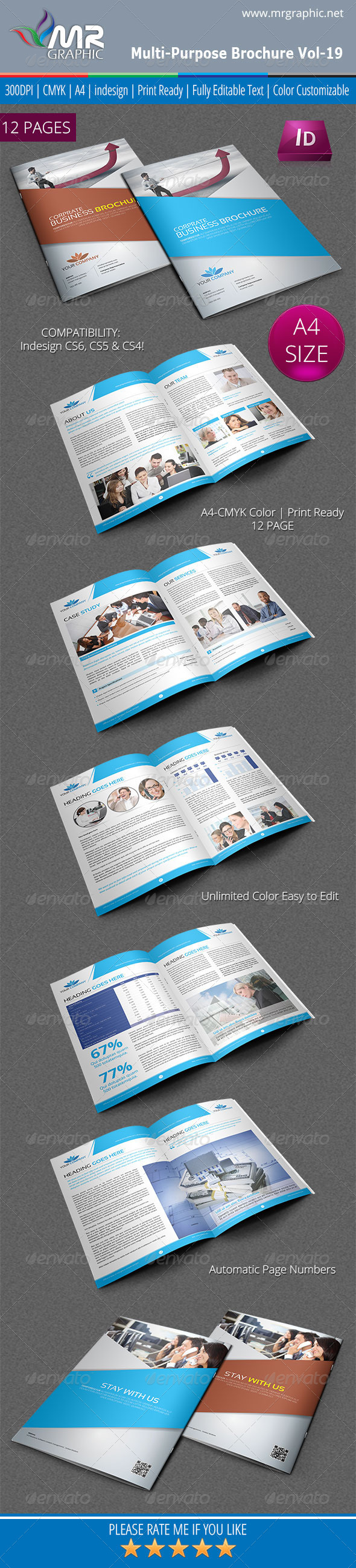 Multipurpose Business Brochure Template Vol-19