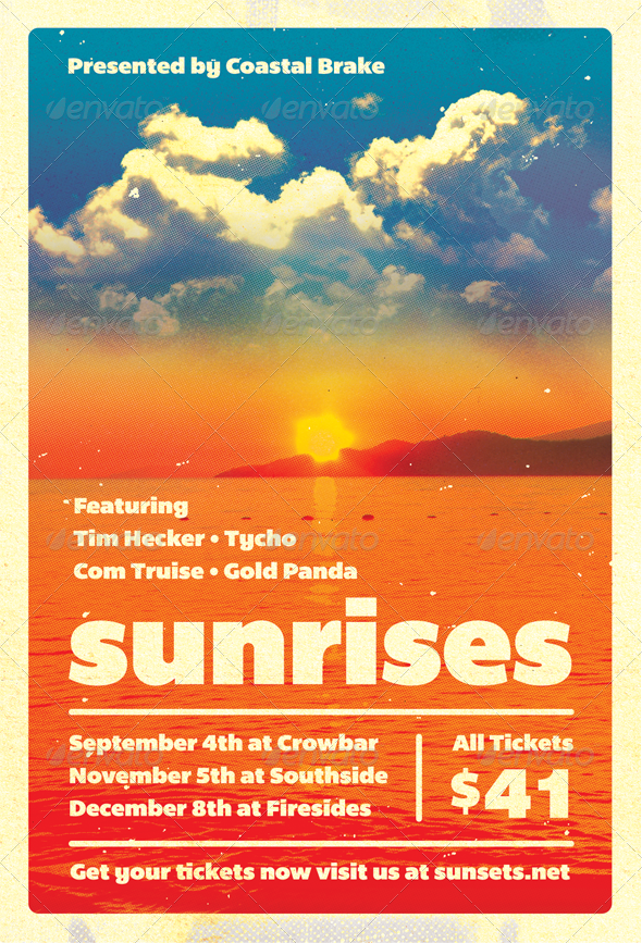 GraphicRiver Sunrises Summer Flyer Template 4707473