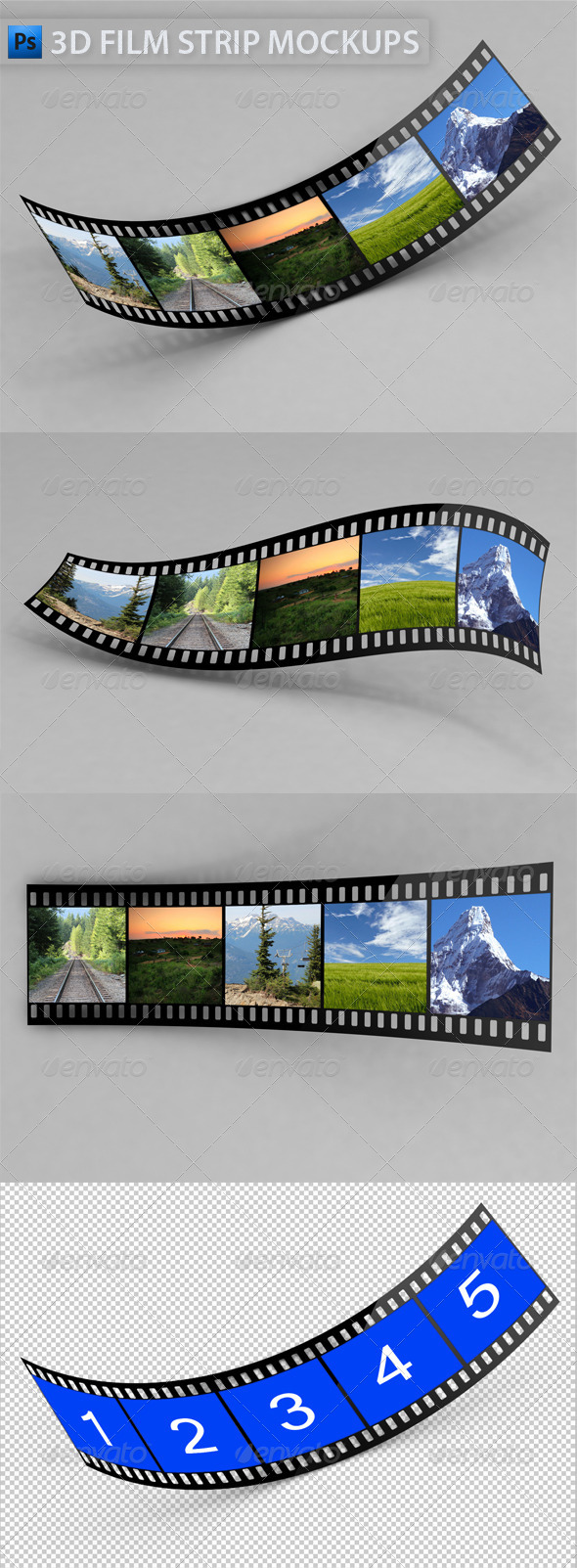 GraphicRiver 3D Film Strip Mock-Ups 4707477
