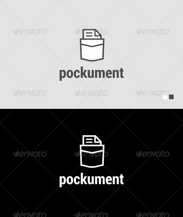 GraphicRiver Pockument Logo Template 4707481