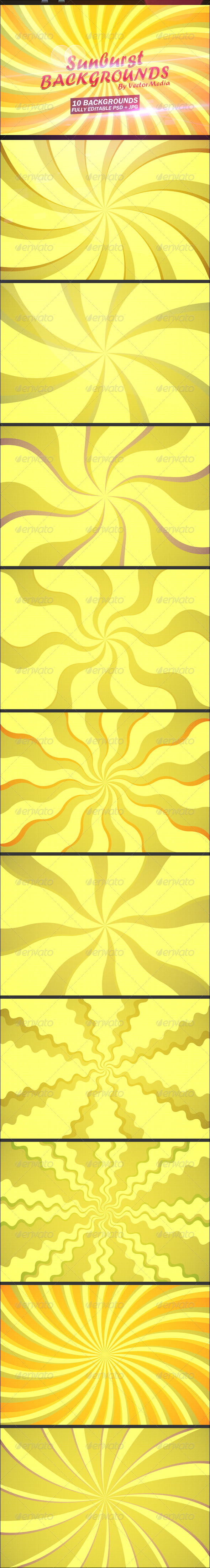 GraphicRiver Sunburst Backgrounds 4707505
