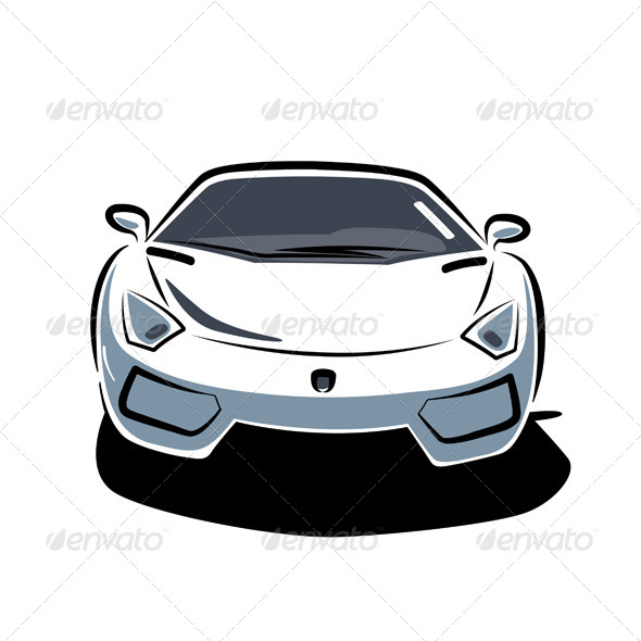 GraphicRiver Front of Sport Car 4707841