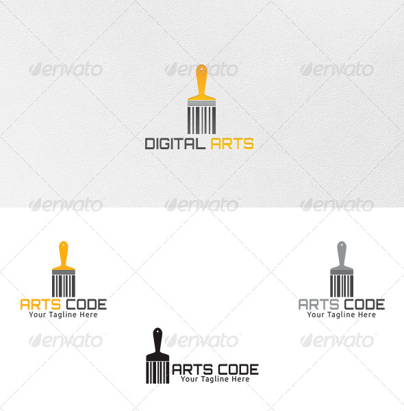 GraphicRiver Art Code Logo Template 4708116