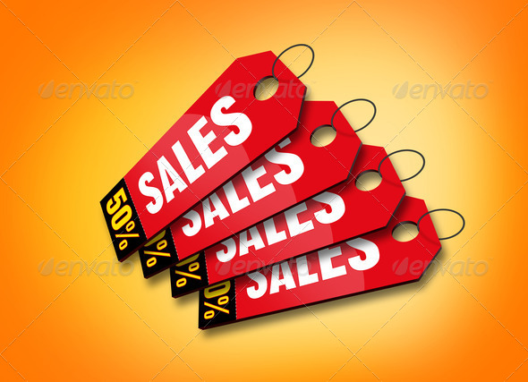 Colourful Sales Labels - Stock Photo - Images