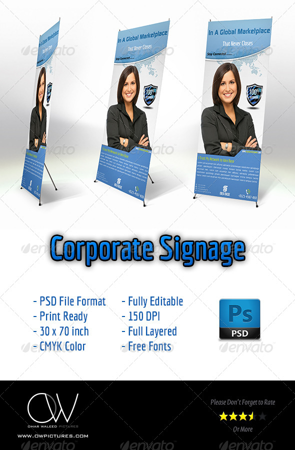 Corporate Banner Signage - Signage Print Templates