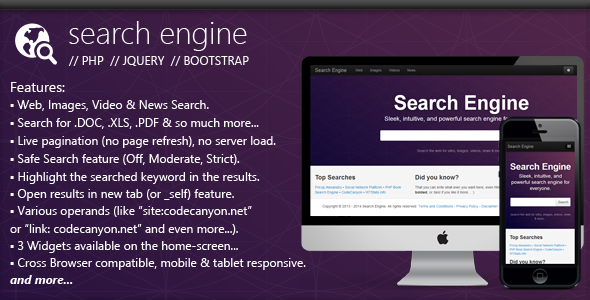 PHP Search Engine - CodeCanyon Item for Sale