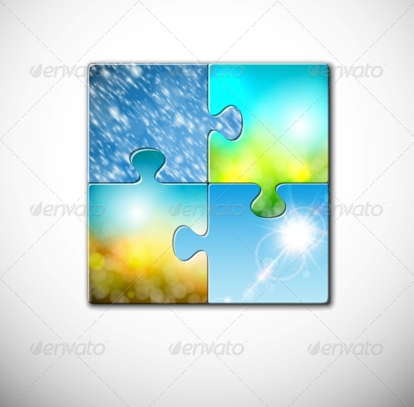 GraphicRiver Seasons in Puzzle 4709674