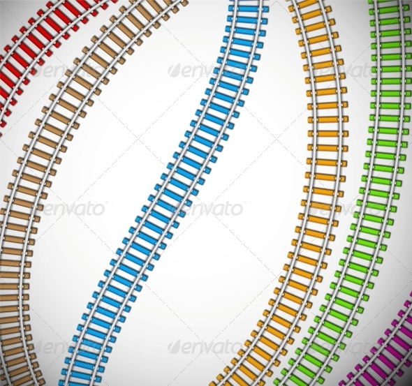 GraphicRiver Background with Colorful Rails 4709705