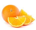 Whole orange fruit and his segments or cantles - PhotoDune Item for Sale